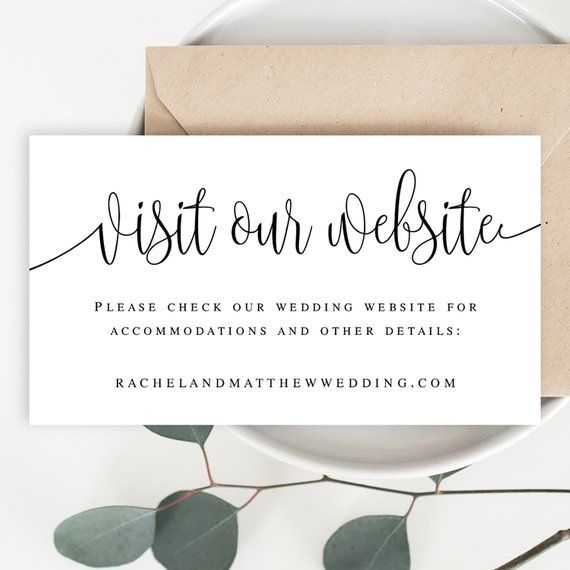 Wedding Website Card Insert Template Visit Our Website Card Etsy Wedding Website Wording Wedding Website Card Wedding Website