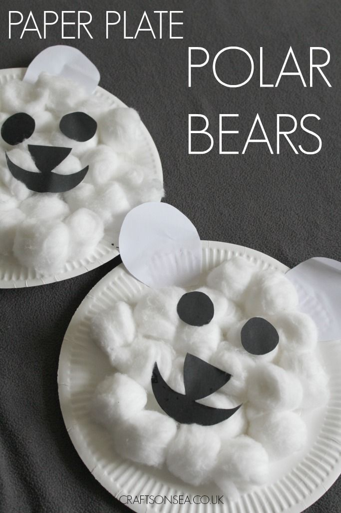 This Cute Polar Bear Craft For Kids Is Easy To Make Using Items Youre Likely Already Have At Home Perfect Studying Arctic Animals Or Just