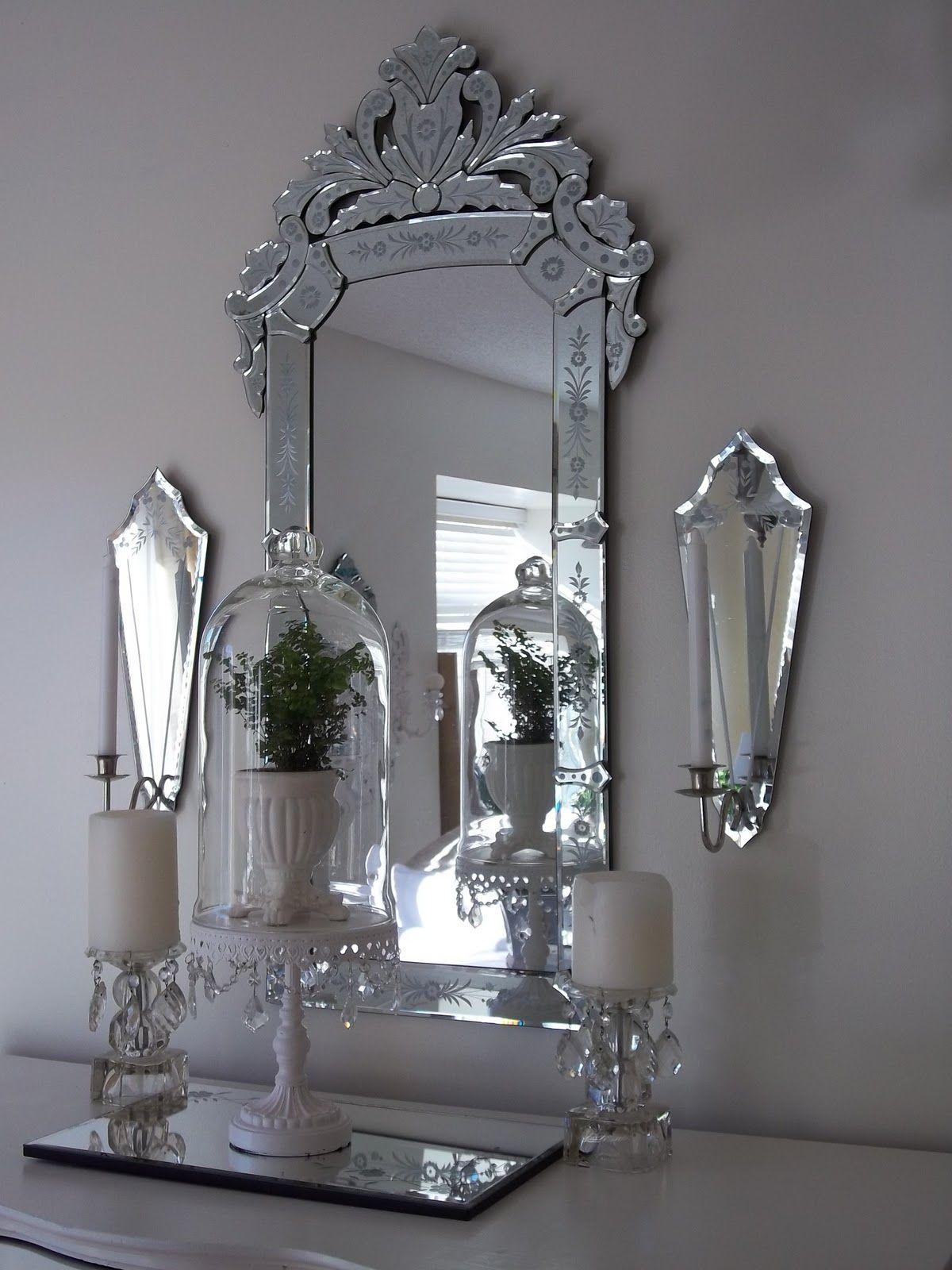 White Cottage Chic October 2010 Venetian Mirror Living Room Venetian Mirrors Mirror Wall