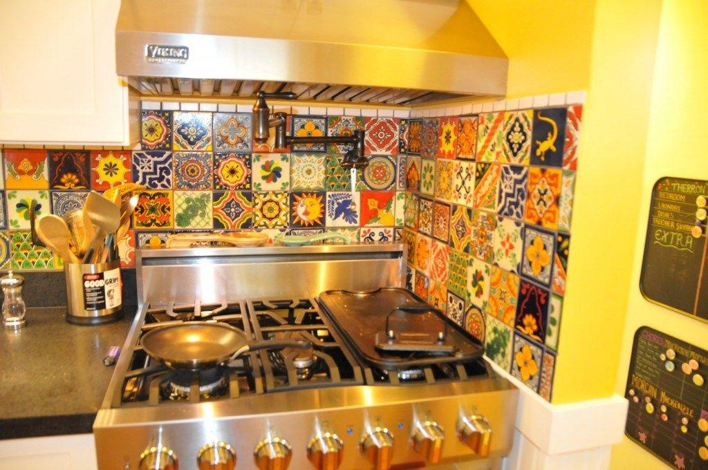 Eclectic Mixed Talavera Tile Backsplashu2026 From Talavera Tile Kitchen  Backsplash