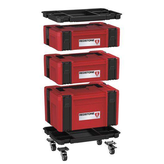 Boite A Outils Electroportatif Systembox Redstone En Plastique Taille L Boite A Outils Rangement Outils Outils