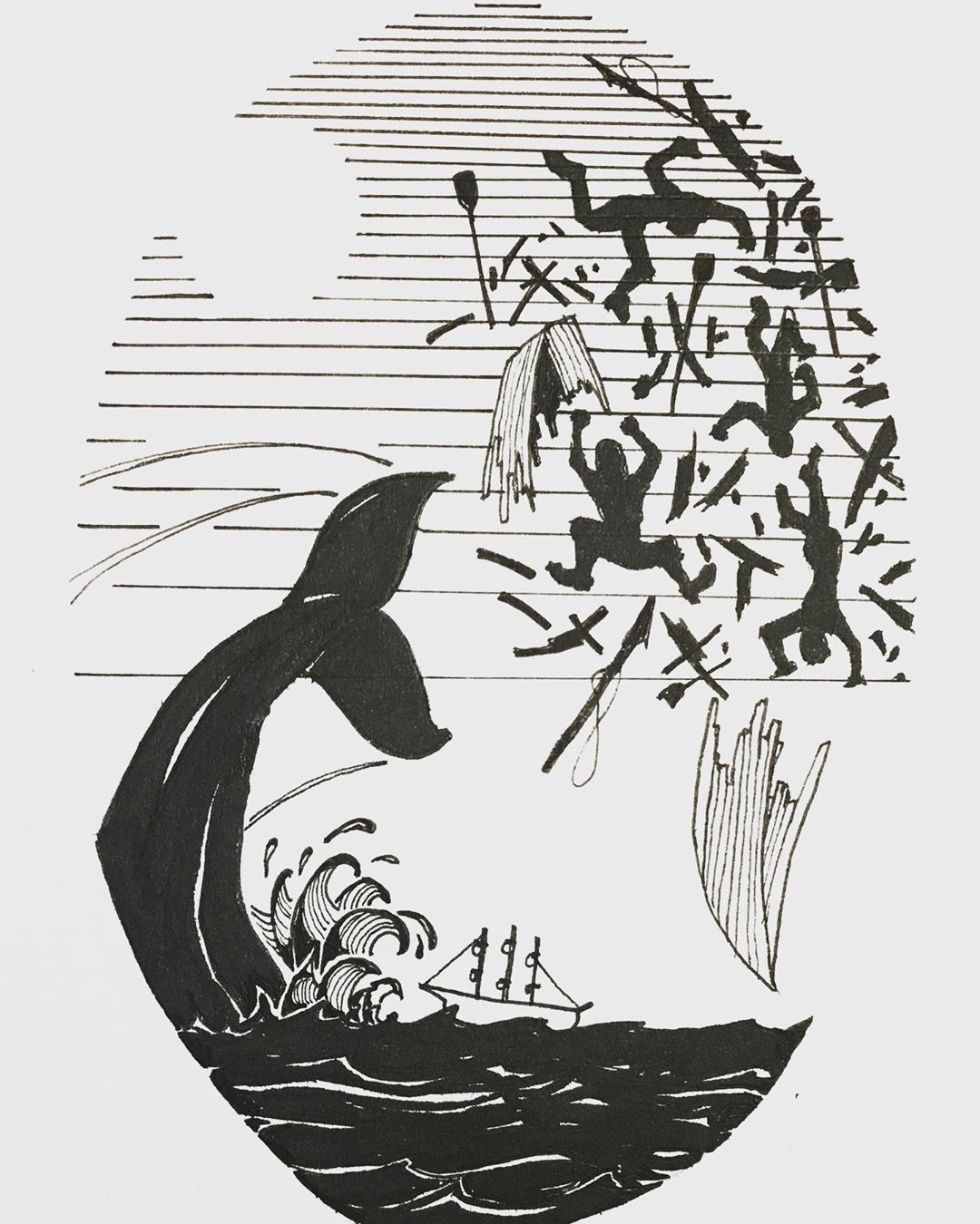 I know it's a popular motif. But I've always related to it. — #whale #whaling #paybackisabitch #payback #waves #illustration #sketchbook #sketching #designinspiration #penandink #drawing #blackandwhite #designinspo #tattooinspo #blackandwhitedrawing #inking #sketchbook #inksketch #ink #tattooideas #tattoodesign #tattooidea #inkdrawing