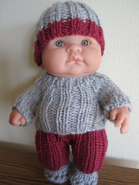 Baby Doll Knit Instant Download Pattern Rib Sweater Set For 10 Inch