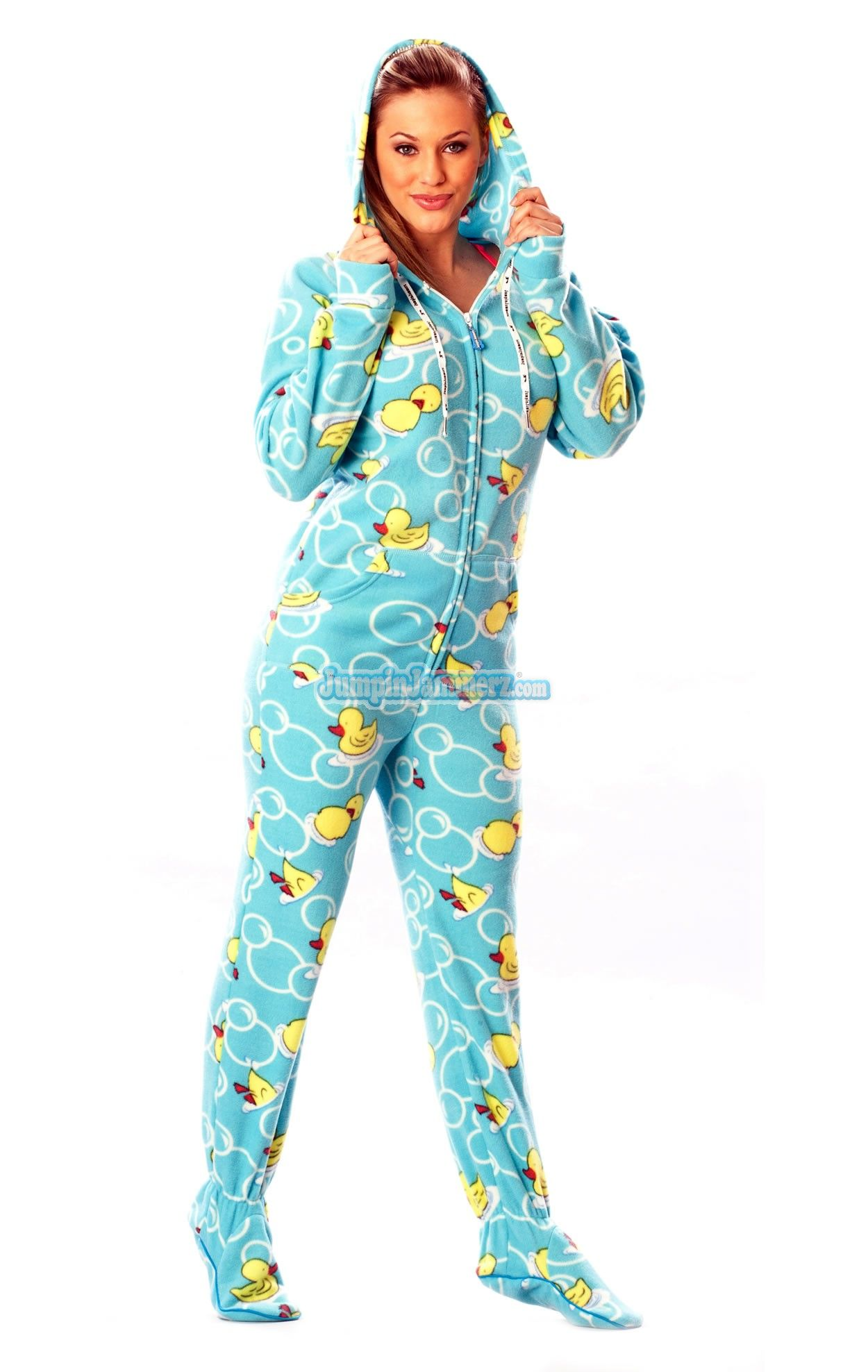 Blue Ducks - Drop Seat Pajamas - Pajamas Footie PJs Onesies One Piece Adult  Pajamas - JumpinJammerz.com faccdd7e9