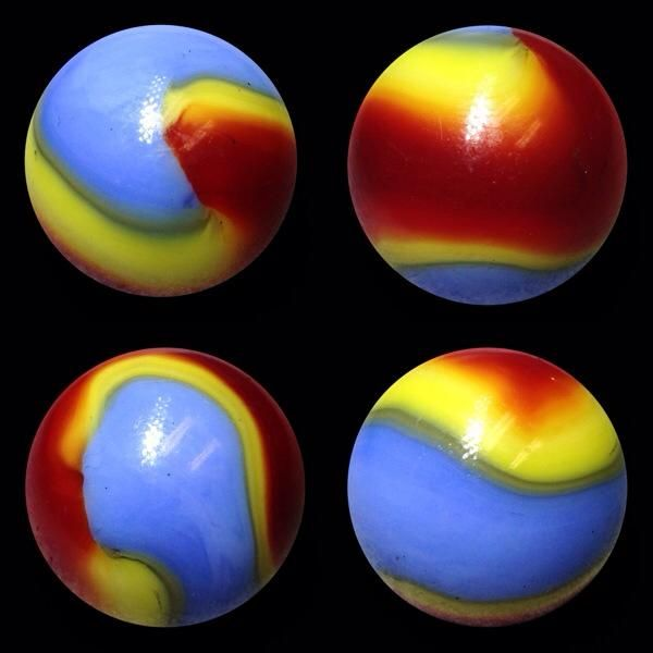Akro Superman Marble Pictures Glass Marbles Paperweights