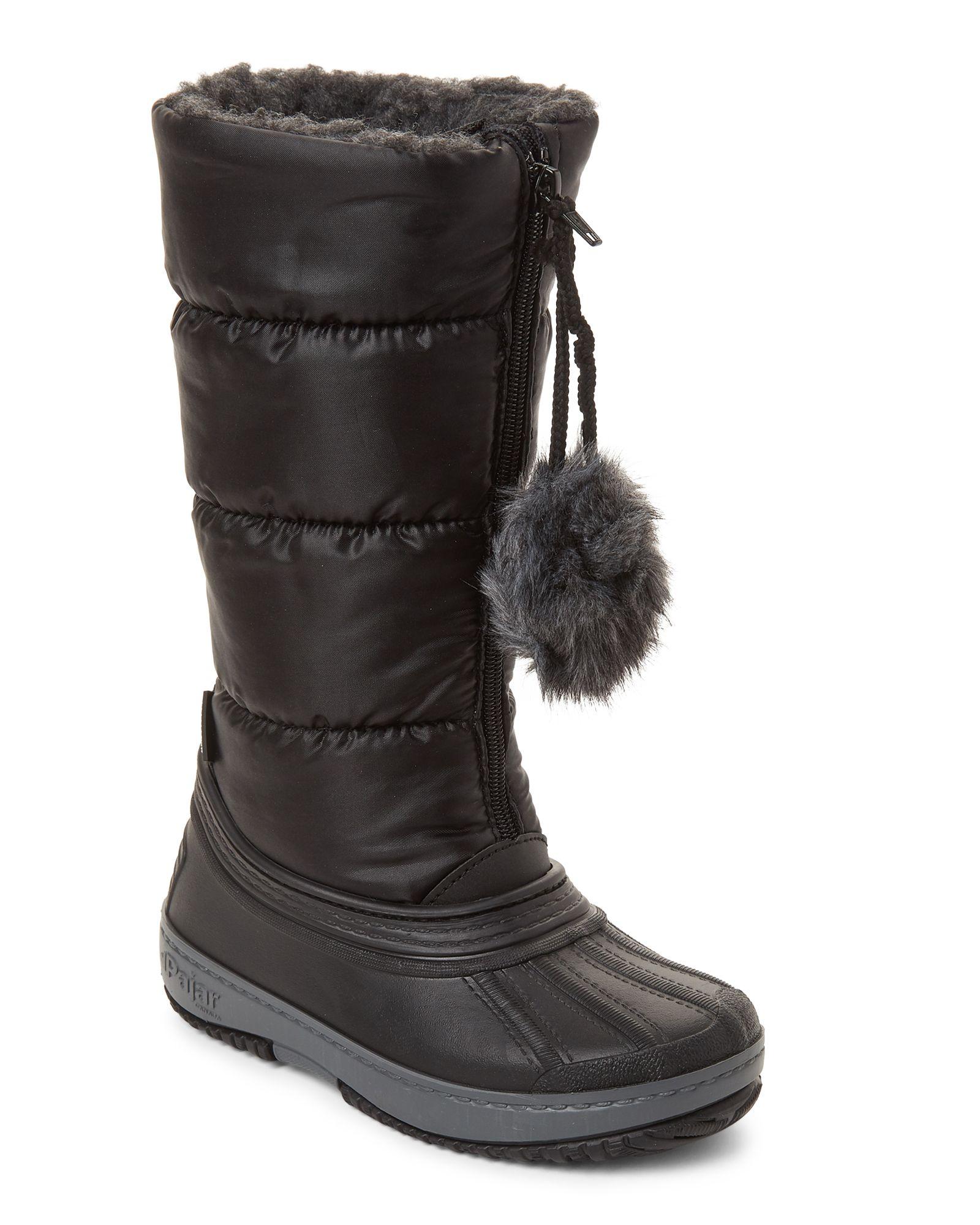 094088ca129 Pajar Canada (Kids Girls) Black Cooper Tall Waterproof Boots ...