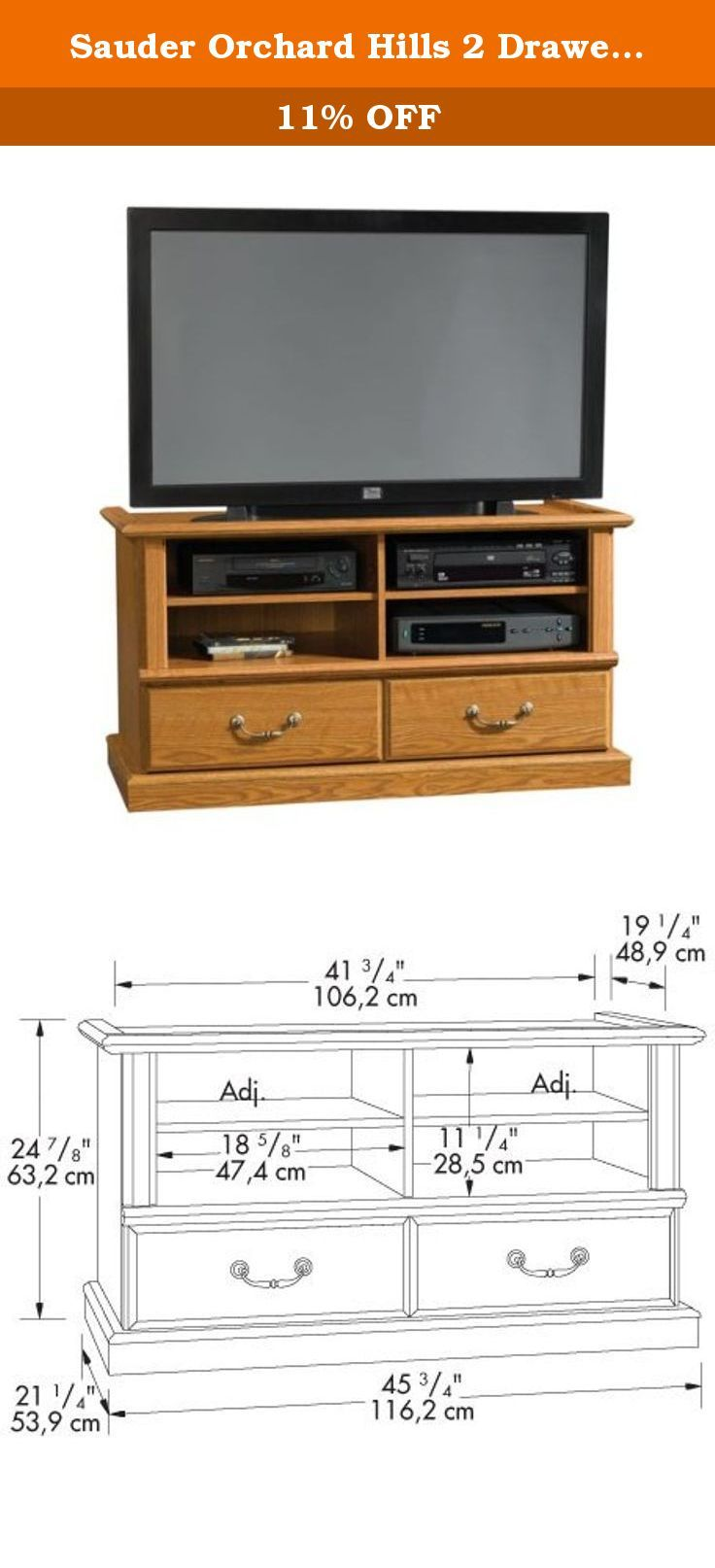 Sauder Orchard Hills 2 Drawer Television Stand You Ll Be Pleasantly