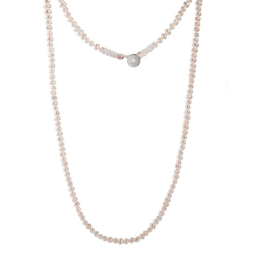 Beauty White Cultured Pearls Wrap Bracelet - Silver Trendz