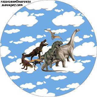 Dinossauros - Kit Completo com molduras para convites, rótulos para guloseimas, lembrancinhas e imagens!