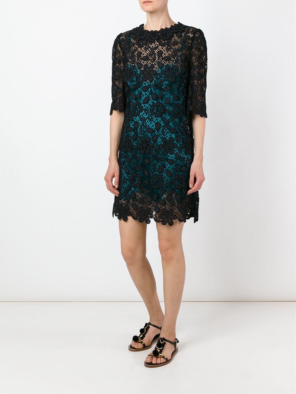 7132fc638 Dolce & Gabbana Vestido de renda Vestidos De Grife, Sapatos Importados,  Vestidos Casuais,