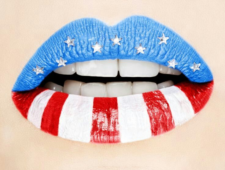 Image result for 4th of july lips