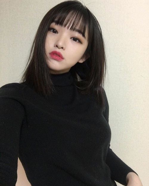 Las Etiquetas Mas Populares Para Esta Imagen Incluyen Black Korean Asian Lips Y Makeup Ulzzang Girl Ulzzang Hair Asian Beauty