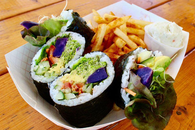 Kikuchi S Vegetarian Wrap Nawiliwili Food Truck Kauai