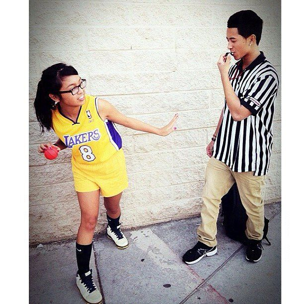 Basketball Player and Ref. Last Minute Couples CostumesCute