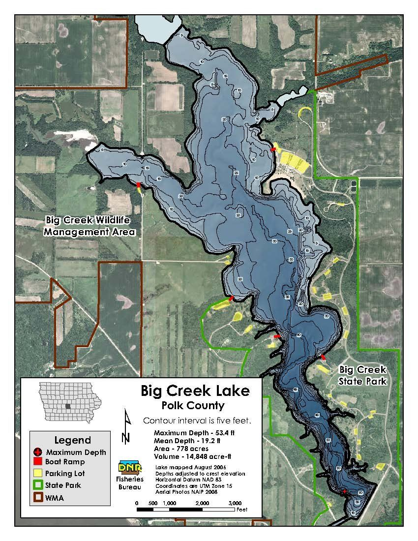 iowa trout streams map Know Your Lake Before You Go Fishing Check Out These Printable iowa trout streams map