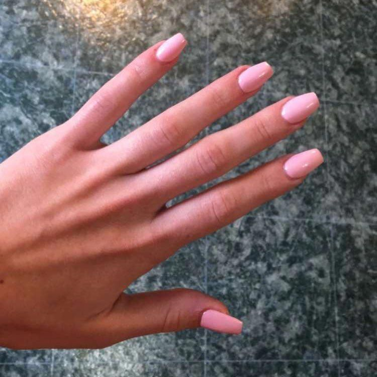 Light Pink Coffin Nails Acrylics Glam Fakenails Acrylicnailscoffin Pink Acrylic Nails Acrylic Nails Coffin Short Light Pink Acrylic Nails