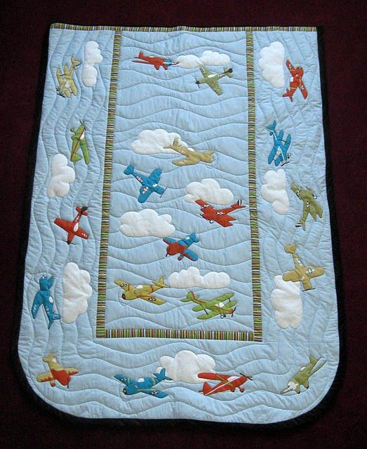 Love This Little Boy Airplane Quilt Quilts Airplane