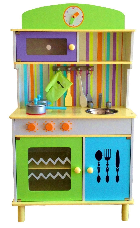 BEST FOR KIDS Cocina juegos infantiles de madera de cocina con ...