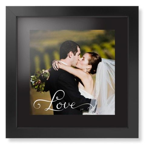 Hand-Lettered Love Framed Print, Black, Contemporary, None, Black, Single piece, 12 x 12 inches, White