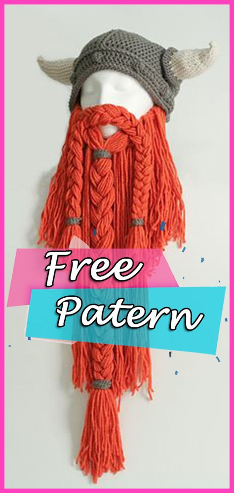 Viking or Dwarven Beard Crochet Free Pattern Halloween ...