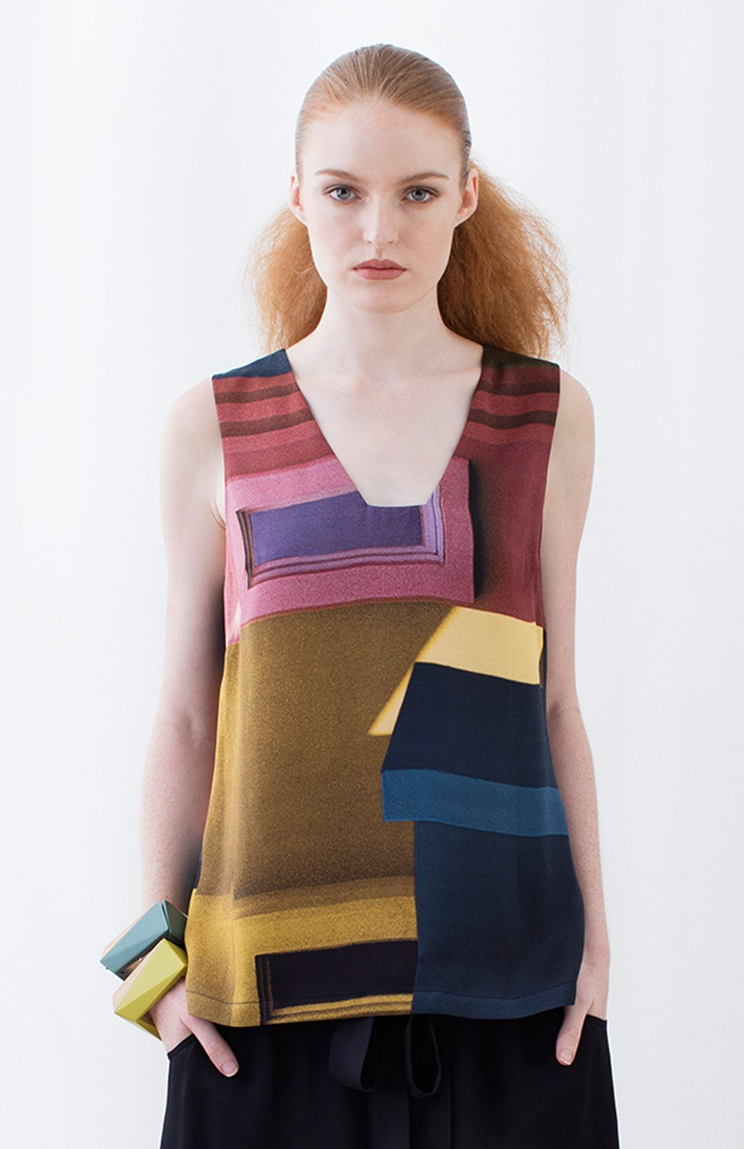 Muralla Silk Tank from Elk Accessories via The Third Row