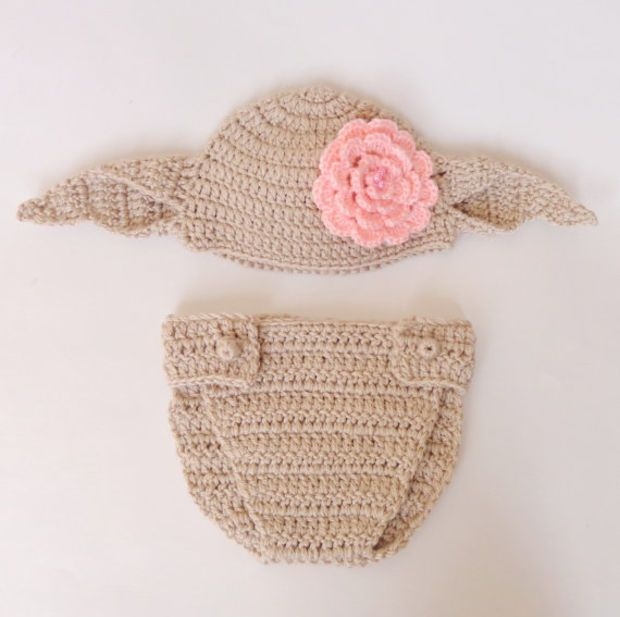 Dobby The House Elf Hat From Harry Potter For Girl- Crocheted Wig Beanie  Newborn Child Teen Adult - Halloween   Cosplay   Baby Shower Gift 9050aa0c038