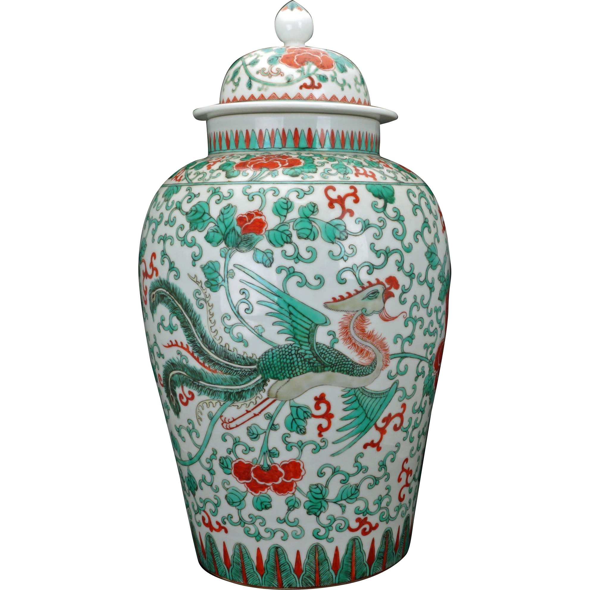 Antique large chinese porcelain famille verte palace vase or jar antique large chinese porcelain famille verte palace vase or jar with lid early mid 19th reviewsmspy
