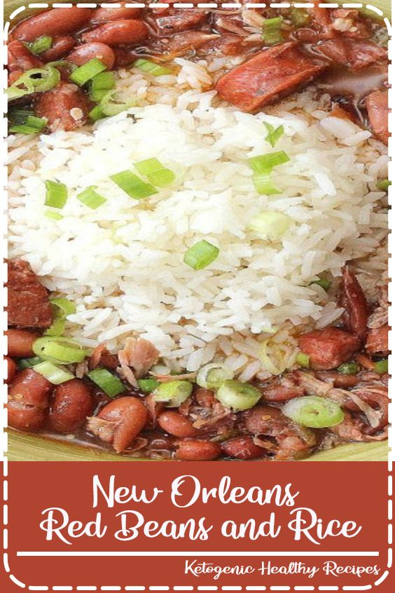 New Orleans Red Beans and Rice #cajundishes