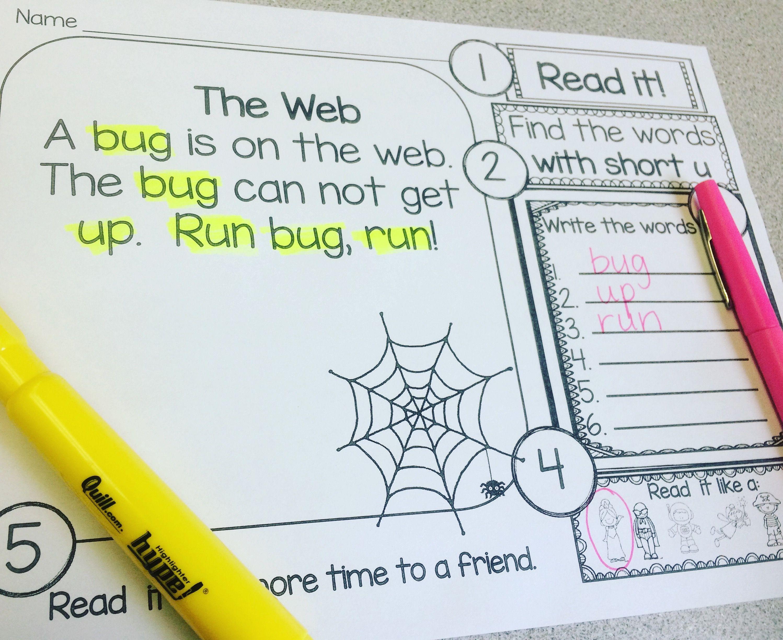 Short Vowel Worksheets for Fluency Practice