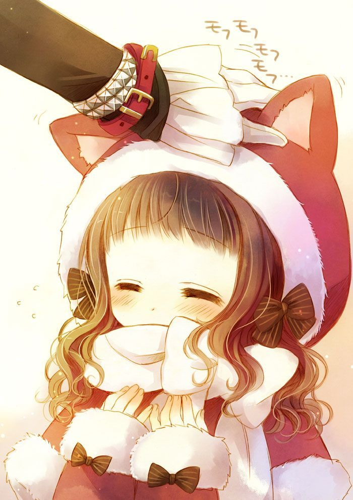 anime christmas cute Google Search Anime chibi, Anime