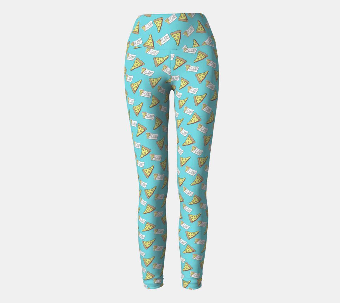 a0a4f395b986bb Medium VEGAN PIZZA LEGGINGS - Yoga Style Leggings - Tights Workout Pants  Athletic Gear - Pizza
