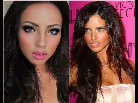 Me as Adriana Lima !!!A Make-up Transformation !!!