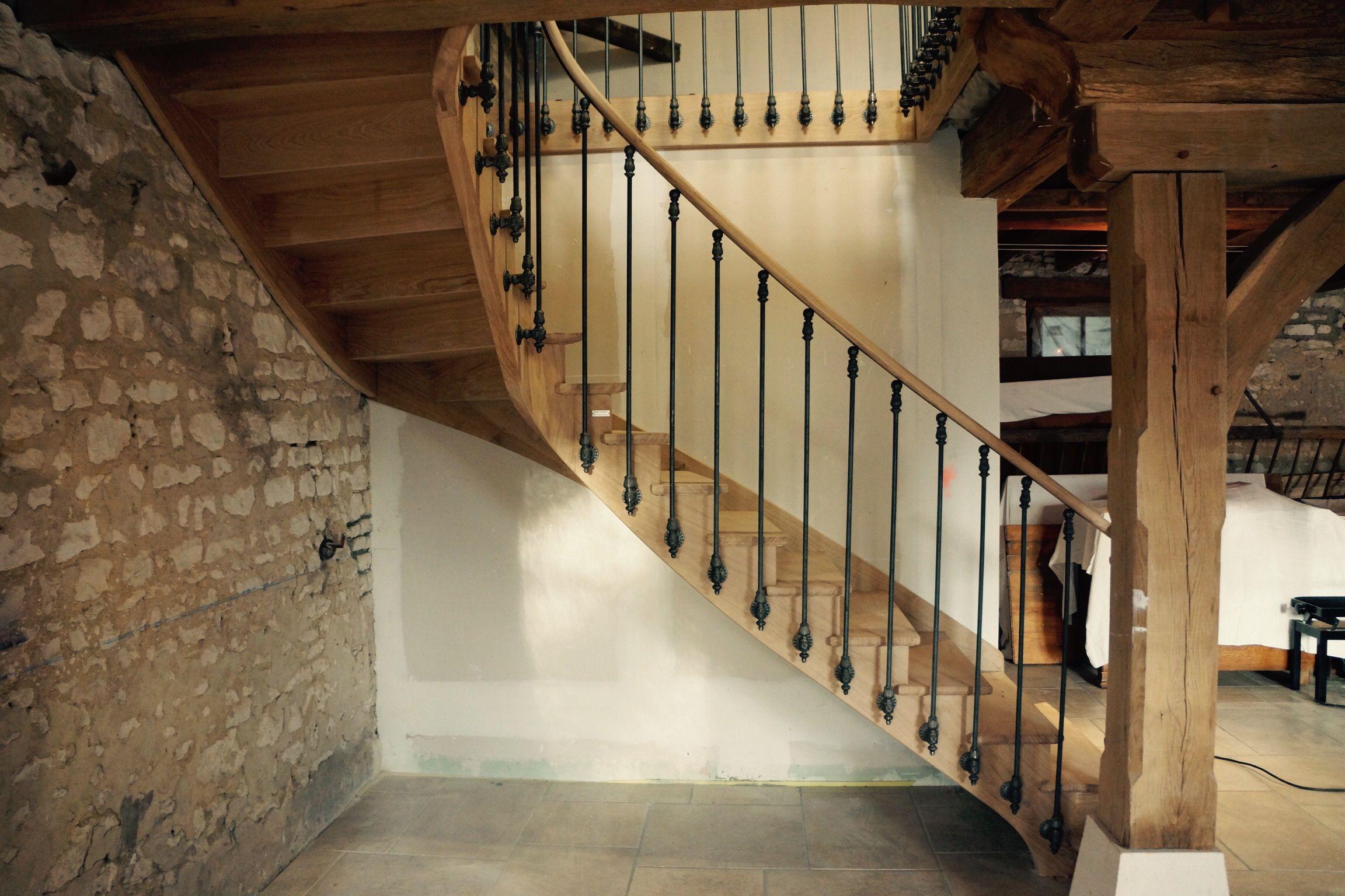 escalier 1 4 tournant en ch ne l 39 anglaise escaliers l 39 anglaise pinterest escaliers. Black Bedroom Furniture Sets. Home Design Ideas