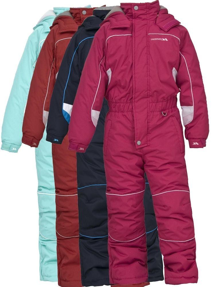 74d6fb53020 TRESPASS LAGUNA BOY GIRL UNISEX 1 PIECE KIDS ALL IN ONE SKI SNOW SUIT 2 -  12 YRS #Trespass