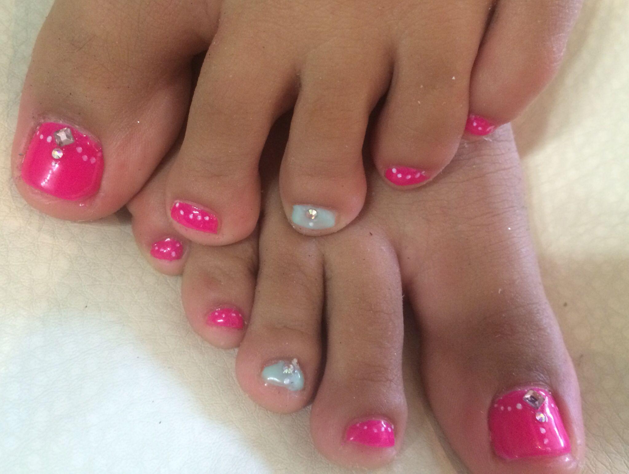 U as de pies decorados para ni as nails toes nails - Decorados de unas ...