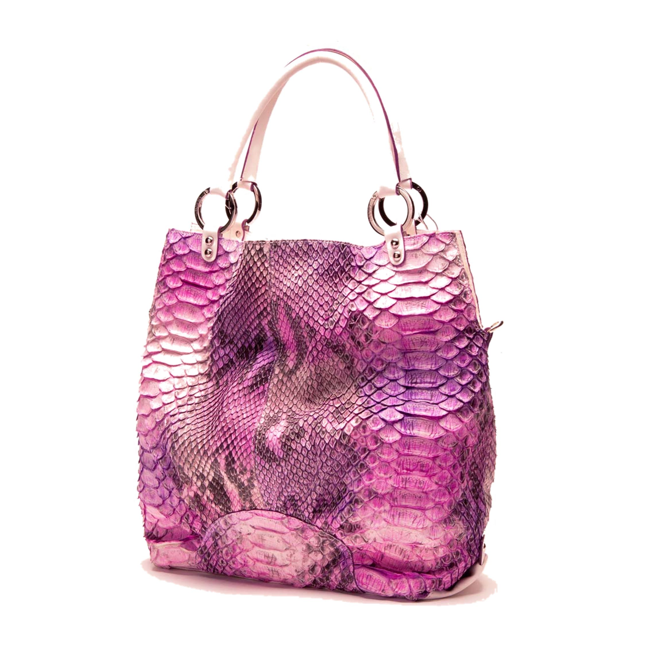 The BLUSH Python tote (not available in CA) by JACOB TAYLOR NEW YORK.  by  Appointment or Special Order Only  Rare and Exotic Color  For Serious  Inquiries 0b08041e2356b