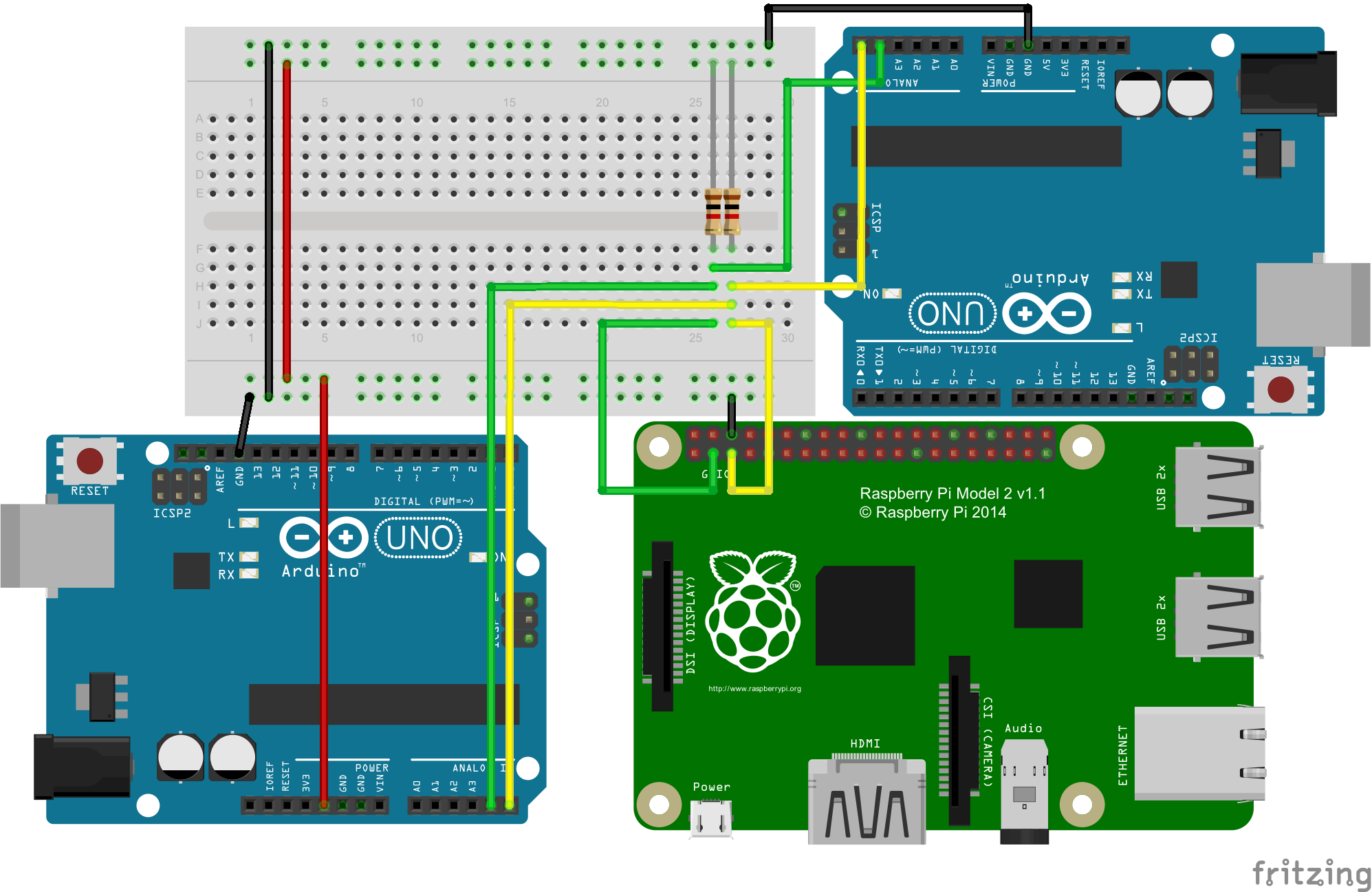 RaspberryPi I2C Schematic