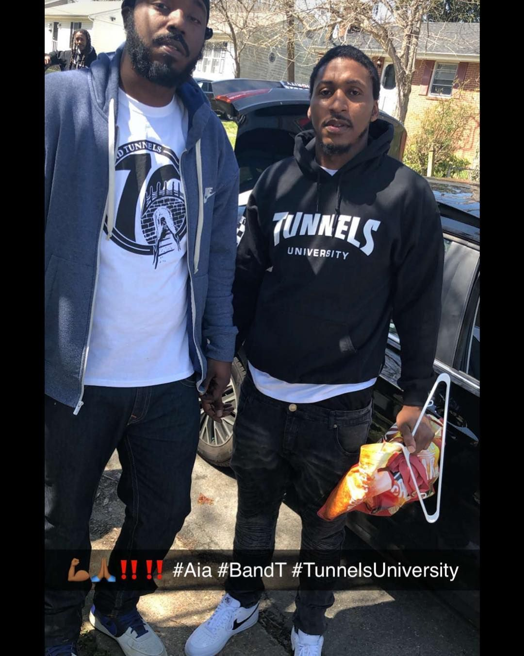 """✔pictame webstagram 🔥🔥🔥 Instagram post by @bridges_and_tunnels_   🚨🚨All black base """"TunnelsUniversity @ hoodies SOLD OUT ‼️‼️‼️ Limited White &Black shirts 4 remain!! Big s/o to the -If you can't get over the obstacles of life like BRIDGES get through them like TUNNELS 🙏🏾🚨🚨🚨   🔥GPLUSE.CLUB"""