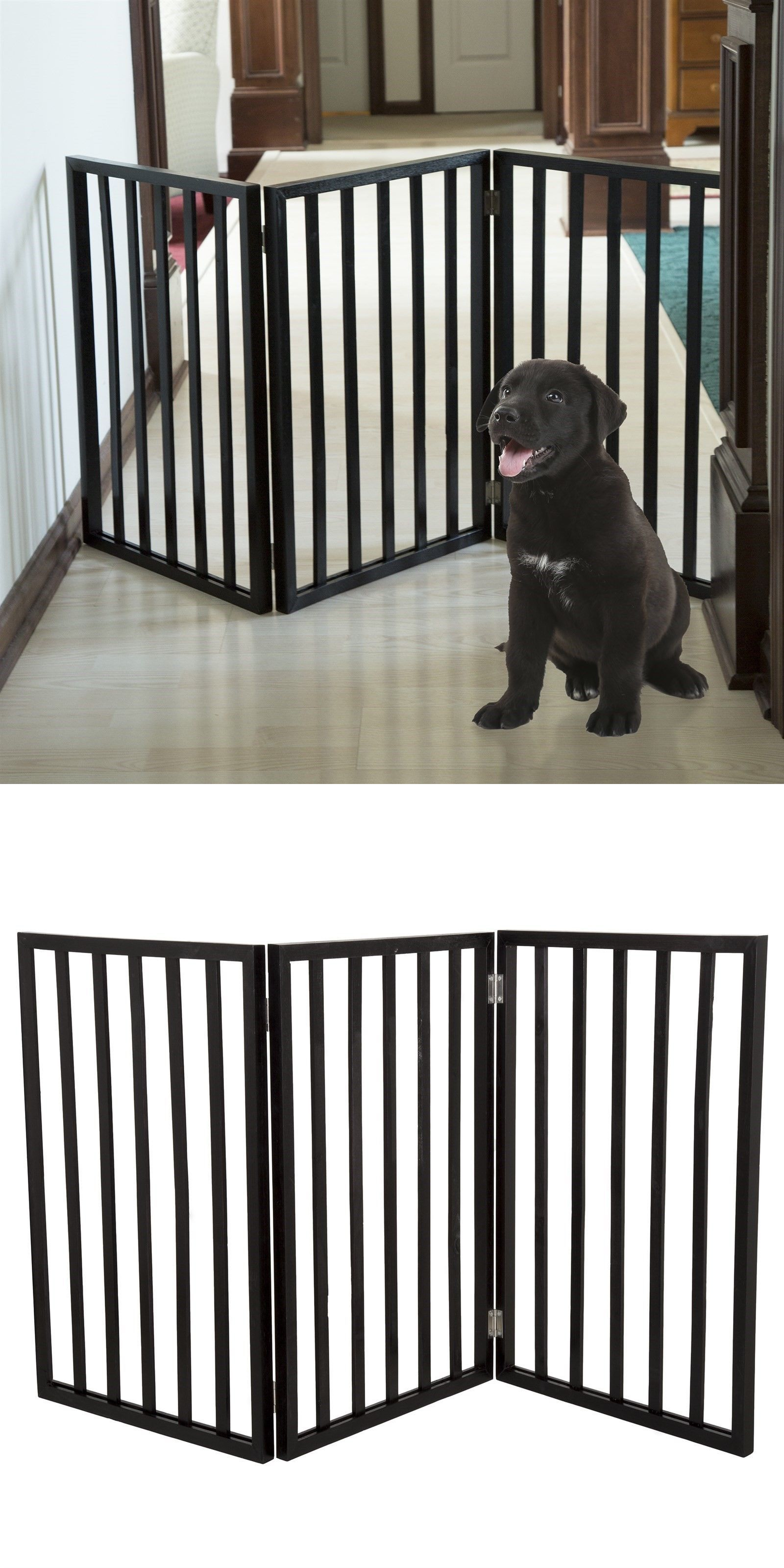 Easy up free standing folding gate x inch dog room separator