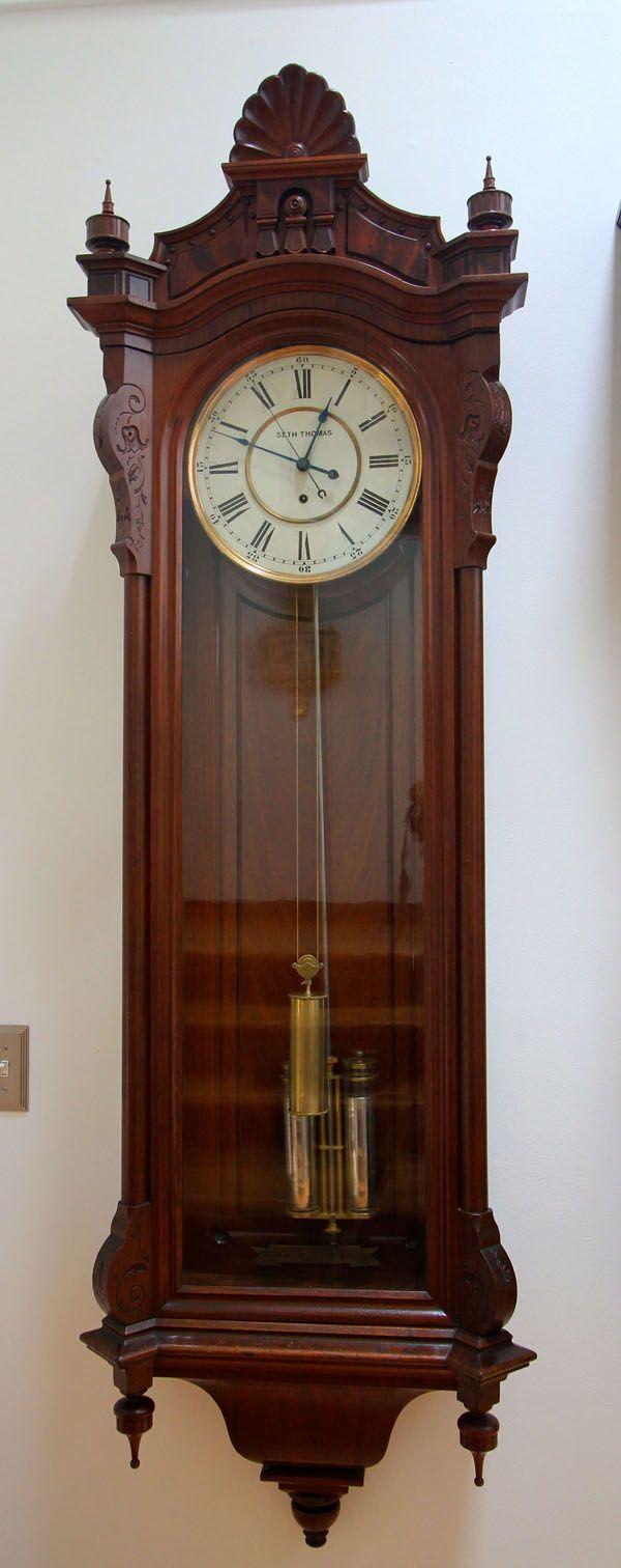 Seth Thomas Regulator No 19 Ca 1885 Wall Clock Clock Clocks For Sale