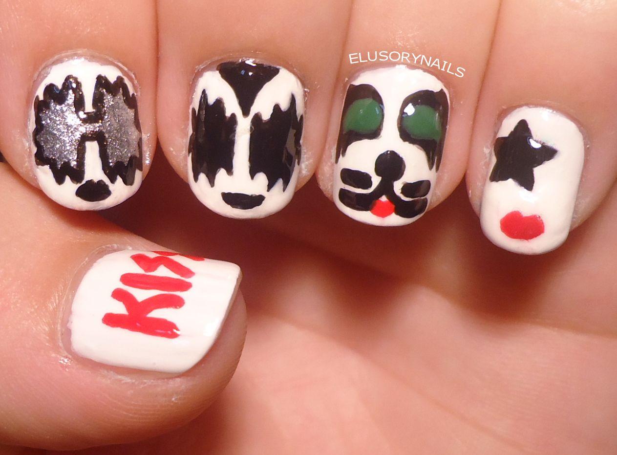 band nail art | kiss nail art one of my favorite bands | nail art ...