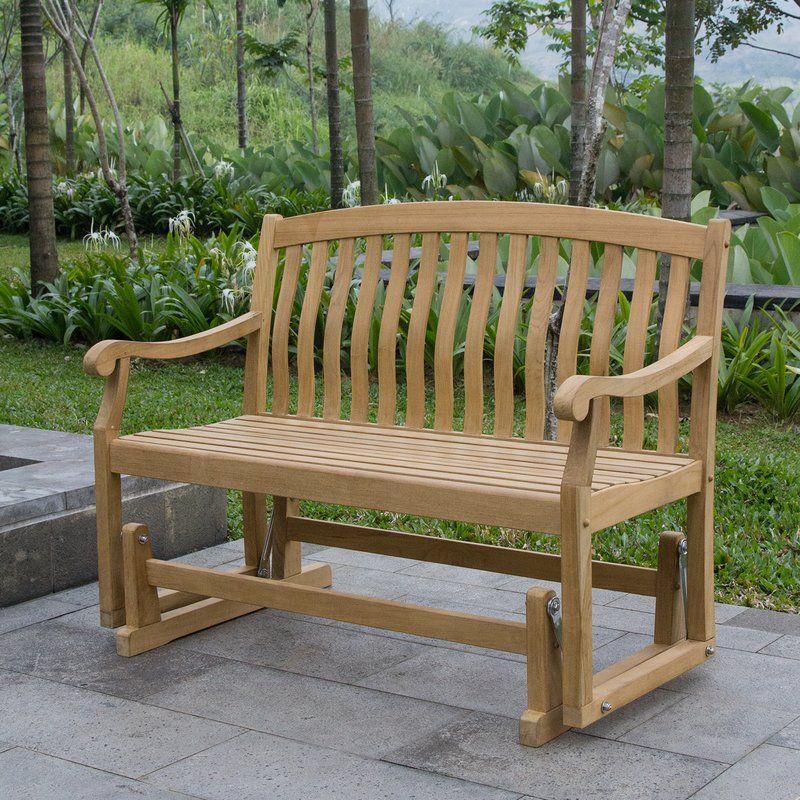 Cynthia Teak Glider Bench Teak Rocking Chair Teak Outdoor Teak Patio Furniture