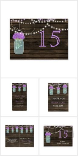 Purple Floral Barnwood mason jar Collection