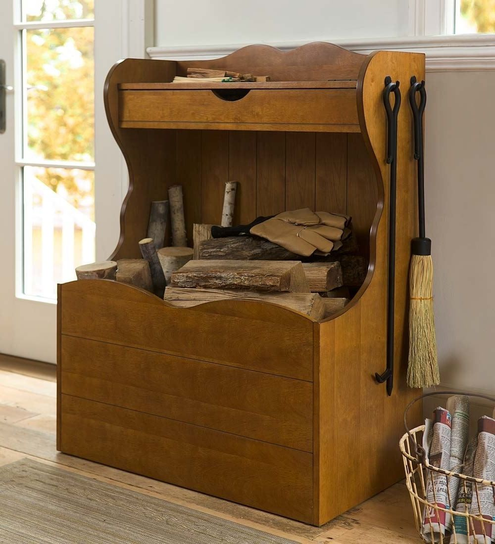 Firewood storage and creative firewood rack ideas for indoor lots
