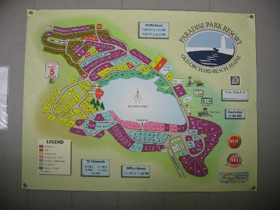 Paradise Park Resort Campground Old Orchard Beach Park Resorts Old Orchard Beach Maine