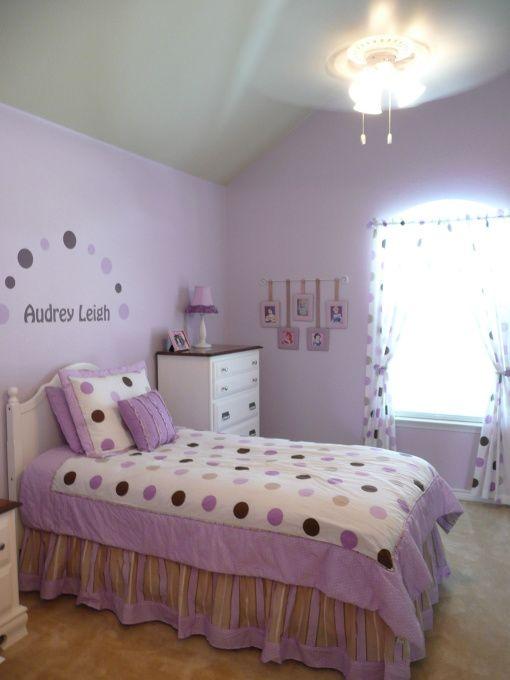 Lovely Lavender Polka Dot Decor