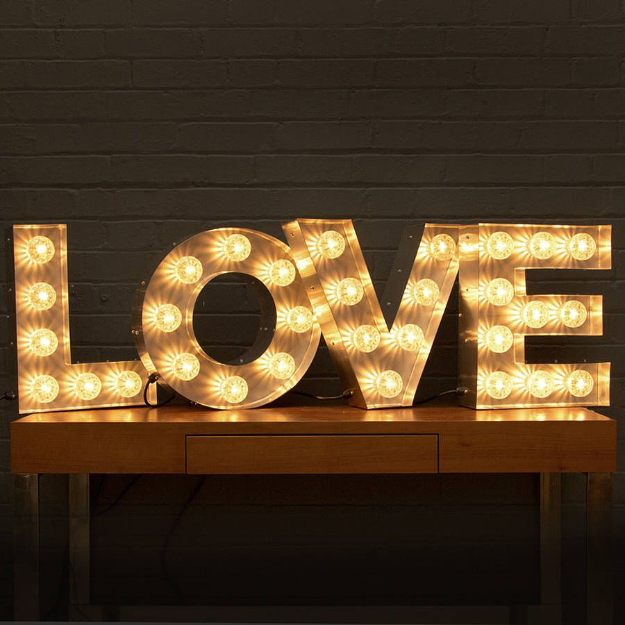 ADI <3 Light Up LOVE Letters - Notonthehighstreet | Valentines ...:ADI <3 Light Up LOVE Letters - Notonthehighstreet | Valentines Design <3 |  Pinterest | Signs, Kind of and Love letters,Lighting