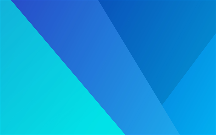 Download Wallpapers 4k Material Design Art Lollipop Geometric Shapes Creative Android Geometry Blue Background