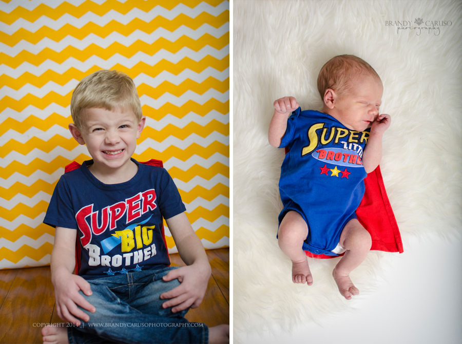 Big brother and little brother sibling shot newborn session denver co newborn baby boy