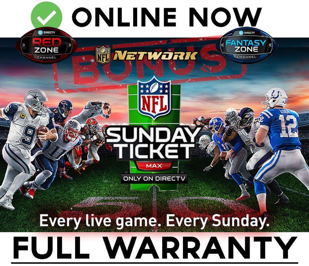 Nfl Sunday Ticket Max 2018 19 Bonus Redzone Fantasyzone Nfl